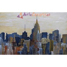 Atardecer en Nueva York La Tienda de ArteCanario.es  Artista: Antonio Doreste  #artecanario #comprar #arte #canarias