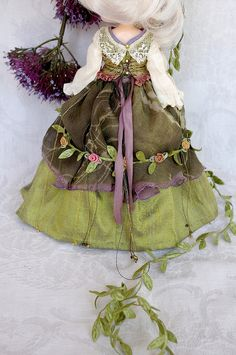 """Forest Fairy"" for Yi Ting Blythe clothes for dolls : tutorial : Kikihalb ♧ Forest~Tales ♧"