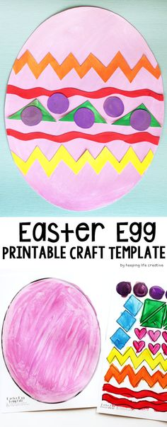 This Printable Easter Egg Craft Template satisfies the season's egg decorating cravings while creating a fresh and festive spring cut-and-paste art project worthy of a bulletin-board or fridge-hanging display.
