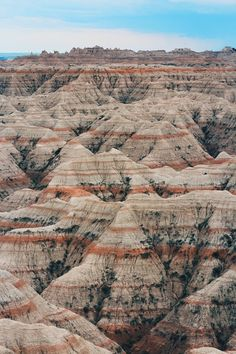 my favorite place in the whole U.S. and I've been to all 48. The Badlands, SD