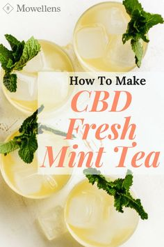 CBD Fresh Mint Tea is a delicious and refreshing alternative to water. This herbal elixir is made with fresh mint leaves, lemon and CBD Honey. Fresh Mint Tea, Fresh Mint Leaves, Uses For Mint Leaves, Mint Leaves Recipe, Hemp Recipe, Healthy Drinks, Healthy Recipes, Cooking Recipes, Cannabis Edibles