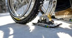 Wheelchair Users Can Stay Active In The Snow with Wheelblades