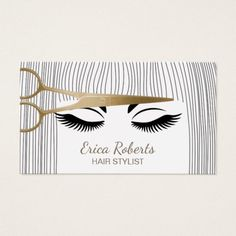 Black white monogrammed hair salon hairstylist business card hair stylist gold scissor girl hair salon business card cheaphphosting Gallery