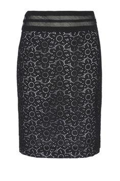 Blumarine Knee Length Skirt, $590; thecorner.com   - ELLE.com