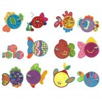 Simply sweet fishies applique machine embroidery designs