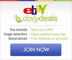 Ebay Shoppers, check this out! They recently launched a Daily Deals Site- 80% Off + Free Shipping - #ebay