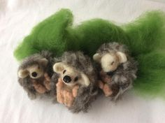 Prickle of Hoglets Needle Felt Kit Make three sweet baby hedgehogs Contains all the materials and needle felt tools you will need to create the project, including: wool, colour instructions, 5 x felting needles, foam mat You will also need scissors Needle Felting Kits, Needle Felted Animals, Felt Animals, Book Making, Wool Felt, Baby Hedgehogs, Create Your Own, Scissors, Projects