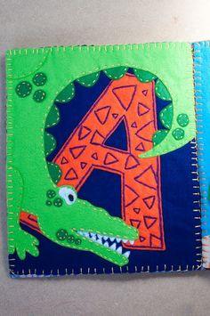Alligator quiet book page