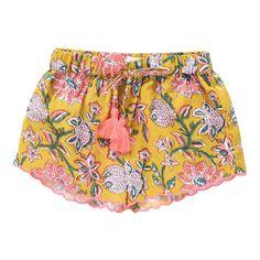 Louise Misha Mississippi Floral Shorts Mustard