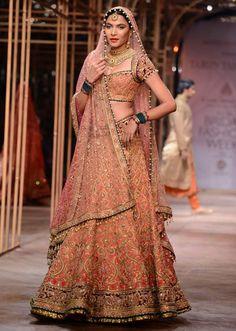 Models showcasing the exquisite collection of Tarun Tahiliani at Indian Bridal Week NOV 2013 at Mumbai