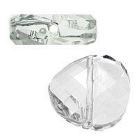 Swarovski Crystal Twist Beads, 14mm, Crystal