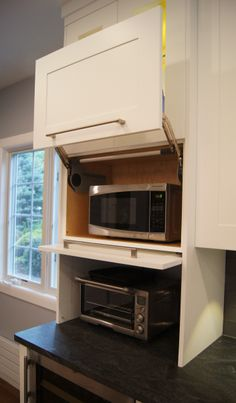 Microwave and appliances hidden