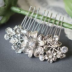 ABAGAIL Victorian Style Wedding Hair Comb by GlamorousBijoux, $46.00