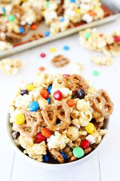 Sweet and Salty Marshmallow Popcorn Recipe on twopeasandtheirpod.com!