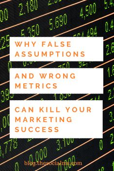 A very common mistake is to measure marketing success with a number that does not really tell if you are successful in reaching your goals. Here is what will happen if you watch the wrong marketing metrics. Small Business Marketing, Marketing Plan, Content Marketing, Internet Marketing, Social Media Analytics, Data Analytics, Google Analytics, Business Advice, Success