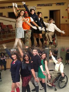 Glee 2009 (top), Glee 2012 (bottom)... *crying*