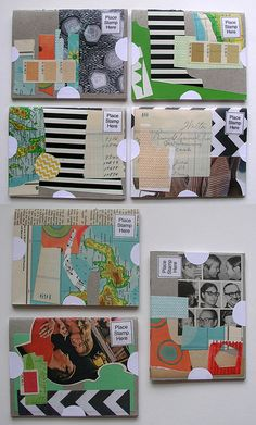 Mailart little books, one book that was sent out was filled up and returned. via Robayre