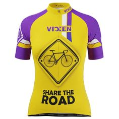 Vixen Women's Share The Road Short Sleeve Cycling Jersey only $42.99 - – Online Cycling Gear Women's Cycling Jersey, Cycling Gear, Cycling Jerseys, Cycling Outfit, Female Cyclist, Bike Shirts, Only Online, Vixen, Female Bodies