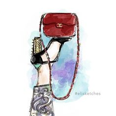 Too glam to give a damn . . . . . . . #elisketches #fashionsketch #fashion #fashionillustration #chanel #art #chanelart #heels #fashionillustrator #artph #artistph #vogue #harpers #highfashion #couture #glam #posh #illustrator #sketch #chanelbag #chanelpurse #quote #fashionquote #fashionblog #styleblog #makeup