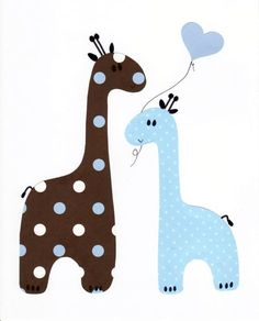 Blue and Brown Giraffe Nursery Artwork Print // Baby Room Decoration // Kids Room Decoration // Gifts Under 20 Baby Toys, Deco Kids, Quiet Book Patterns, Sewing Baby Clothes, Baby Shower Presents, Shower Gifts, Giraffe Nursery, Nursery Artwork, Baby Girl Quilts