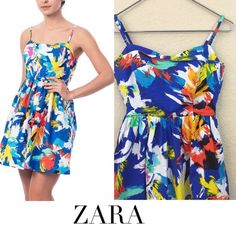 Zara dress Zara trafaluc flower cotton dress no damages great pre loved condition size XS Zara Dresses