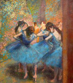 Edgar Degas (1834-1917) - Blauwe danseressen (Dancers in blue) - olieverf op linnen - 85x75,5 cm - 1886/90 - Musée D'Orsay