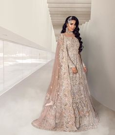 Best Picture For indo western Bridal Outfit For Your Taste You are looking for something, and it is going to tell you exactly what you are looking for, and you didn't find that picture. Asian Bridal Dresses, Asian Wedding Dress, Pakistani Wedding Outfits, Pakistani Wedding Dresses, Bridal Outfits, Indian Dresses, Punjabi Wedding, Pakistani Bridal Lehenga, Designer Bridal Lehenga