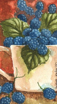 High Summer - watercolor - published on greeting cards by Diane Knott - inspiration for rughooking. I <3 watercolor!