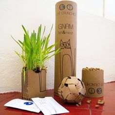 Gnam is a packaging out of the ordinary. It's a cardboard tube containing dry food for cats that has an incredible end-life transformation ability. Gnam can be turned into a ball for your cat and a pot to plant some seeds of catnip.