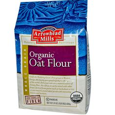 Arrowhead Mills, Organic Oat Flour, 24 oz g) (Discontinued Item) White Chocolate Raspberry Cake, Whole Grain Foods, Sources Of Dietary Fiber, Good Source Of Fiber, Low Fat Diets, Grow Organic, Oat Flour, Organic Recipes, Healthy Food