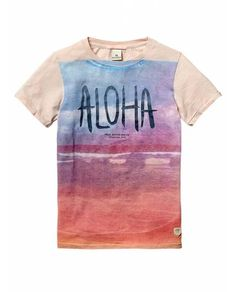 Dip-dyed photo print tee - T-shirts - Official Scotch & Soda Online Fashion & Apparel Shops
