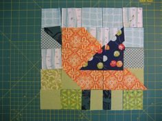 bird with squares and triangles
