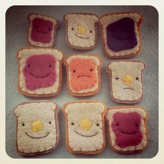 #feltfood #felt #toast #cute #cuteness #travelingrhinos