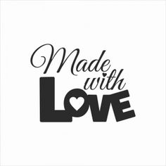 Stempel - made with love 3 duże CraftyMoly