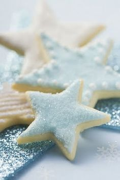 ✯ Wish Upon the Stars ✯  blue star cookies