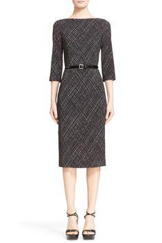 Belted Plaid Sheath Dress by Michael Kors on @nordstrom_rack