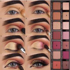 Modern Renaissance palette Modern Renaissance palette - Das schönste Make-up Makeup Goals, Makeup Inspo, Makeup Inspiration, Makeup Tips, Beauty Makeup, Skin Makeup, Eyeshadow Makeup, Simple Eyeshadow, Modern Renaissance Palette Looks