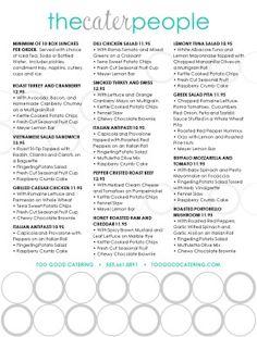 Box Lunch Menu Template | Customize Retro Catering Menu