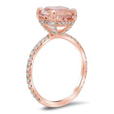This moissanite engagement ring is crafted in solid rose gold with a round shaped forever brilliant moissanite, beautiful shiny stone, full of luster and brilliance. Set into a gorgeous flower ring. Morganite Engagement, Shop Engagement Rings, Rose Gold Engagement Ring, Designer Engagement Rings, Diamond Stacking Rings, Round Diamond Ring, Rose Gold Morganite Ring, Kids Rings, White Gold Rings