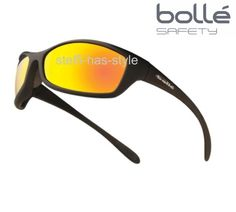 Bolle Spider Safety Cycling Glasses Sunglasses Clear Contrast Red Flash Lens | eBay