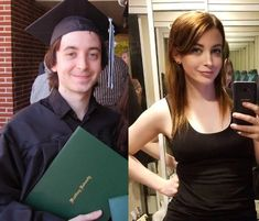 5 years of self-improvement. Still a work in progress. Male To Female Transgender, Transgender Girls, Facial Feminization Surgery, Trans Mtf, Mtf Before And After, Disney Gender Bender, Mtf Transition, Male To Female Transformation, Feminized Boys