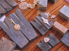Soap stone molds and pewter casting
