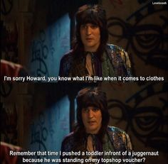 """When Vince was upfront about just how much he loves clothes.   23 Times """"The Mighty Boosh"""" Was Really Fucking Funny"""