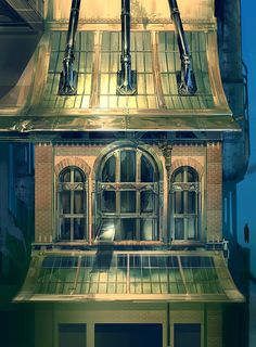 ArtStation - Bioshock Infinite - Finkton Factory Concept art, Ben Lo