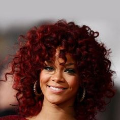 Fluffy Kinky Curly Wine Red Synthetic Attractive Medium Capless Side Bang Wig For Women