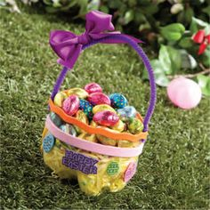 Paper plate easter basketi am going to try this one with my 2 liter easter basket cute idea for school class easter party negle Choice Image