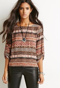 Tulip-Back Ornate Blouse | Forever 21 - 2000173907