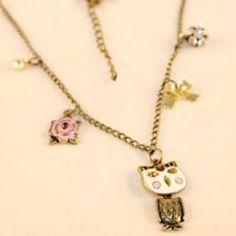 Discount China wholesale Design Retro Fashionbutterflyknot Lovely Owl Pendant Necklace [10082] - US$1.49 : Mygoodsbox