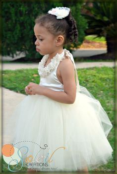 Ivory Flower Girl Dress by SoleilCreations on Etsy, $89.99