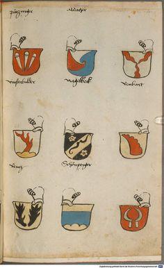 Wappen besonders von deutschen Geschlechtern Süddeutschland ?, 1475 - 1560 Cod.icon. 309  Folio 59r